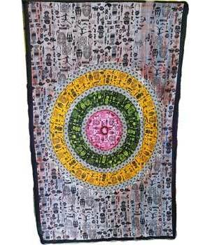 "African Mandala Tapestry 54"" x 86"""