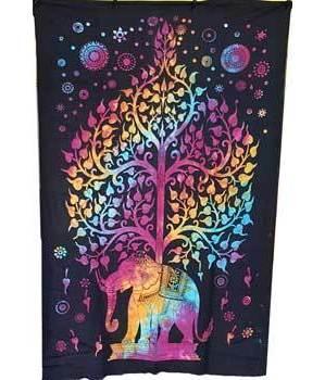 "Elephant Tree Tapestry 54"" x 86"""