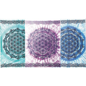 "58"" x 82"" Flower of Life Tapestry"