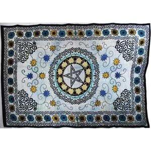 """Flower Pentagram Tapestry 72"""" x 108"""""""