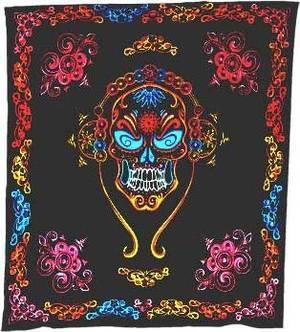 "84"" x 96"" Skull tapestry"
