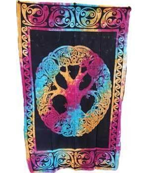 "Mandala Tree Tapestry 54"" x 86"""