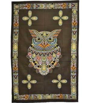 "54"" x 86"" Owl Tapestry"