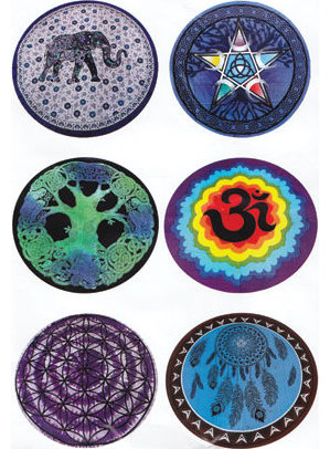 "60"" Diameter Assorted Design Tapestry"