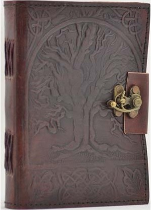 Tree of Life Leather with Latch