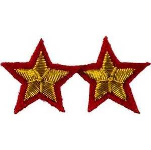 """Star Sew-On Patch Red (Set Of 2) 2"""""""