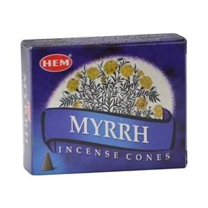 Myrrh Hem Cone Incense 10pk