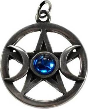 Pentagram & Moons Pendant