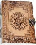 "5"" x 7"" Celtic Cross leather w/ Latch"
