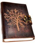 Tree leather blank book w/ latch