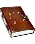 Tree of Life Chakra Stones leather blank book w/ latch