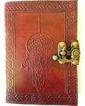 Dreamcatcher Leather Blank Book with Latch