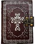 Celtic Cross (die cut) leather blank book w/ latch