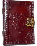 Celtic Heart leather blank book w/ latch