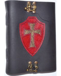 Red Shield leather blank book w/ latch