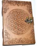 """5"""" x 7"""" Flower of Life Embossed leather w/ latch"""