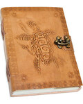 """5"""" x 7"""" Turtle Embossed leather w/ latch"""