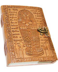 """5"""" x 7"""" Egyptian Embossed leather w/ latche"""