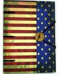 "American Flag journal 4 1/2"" x 6 1/2"" handmade parchment"