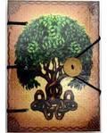 "Brigid Ashwood Tree of Life journal 4 1/2"" x 6 1/2"" handmade parchment"