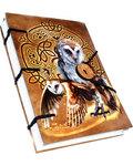 "Celtic Owl journal 4 1/2"" x 6 1/2"" handmade parchment"