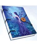 "Iridenscent Fairy journal 4 1/2"" x 6 1/2"" handmade parchment"