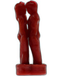 Red Face to Face Lover Candle