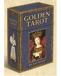 Golden Tarot Deck & Book (Blue)
