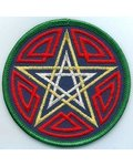 Celtic Pentagram Patch 3""