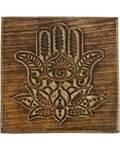 "6"" x 6"" Lotus Hamsa Hand box"