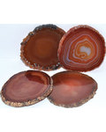 Red Agate Coaster (set of 4)