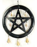 Black Pentagram Chime 9 1/2""