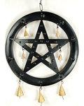 """Black Pentagram Chime 9 1/2"""""""