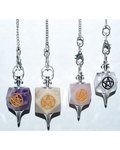 Various 7 Chakra Pentagram pendulum
