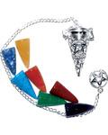 7 Chakra Stones Pentagram pendulum