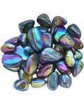 1 lb Black Rainbow electroplated tumbled stones