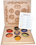 Sanskrit Chakra set with box