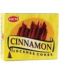 Cinnamon Hem Cone Incense 10pk