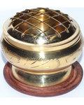 """2"""" Engraved brass incense burner"""