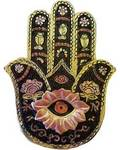 Gold & Black Hamsa Incense Burner