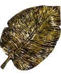 """12"""" Leaf burner, aluminum antique gold finish"""