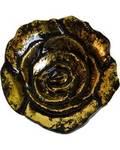 """4"""" Rose burner, aluminum antique gold finish"""