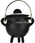 Plain Cast Iron Cauldron with Lid 2 3/4""