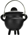 """Plain Cast Iron Cauldron with Lid 2 3/4"""""""