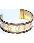 Flower of Life copper & brass bracelet