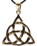 Bronze Triquetra Pendant Necklace