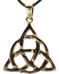 Bronze Triquetra Pendant Necklace