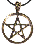 Pentagram Bronze Necklace