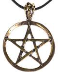 Pentagram Bronze Necklace