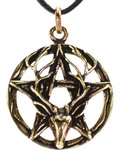 Pentagram Stag Necklace